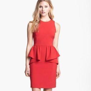 Michael Michael Kors Red Sleeveless Peplum Dress 0